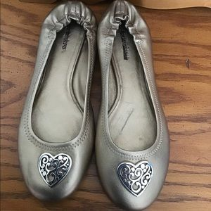 Brighton Gold Slippers-size 10